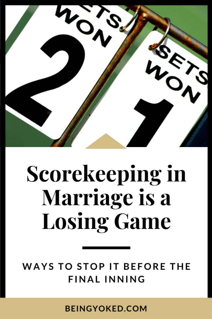 scorekeeping is a game meant to be lost