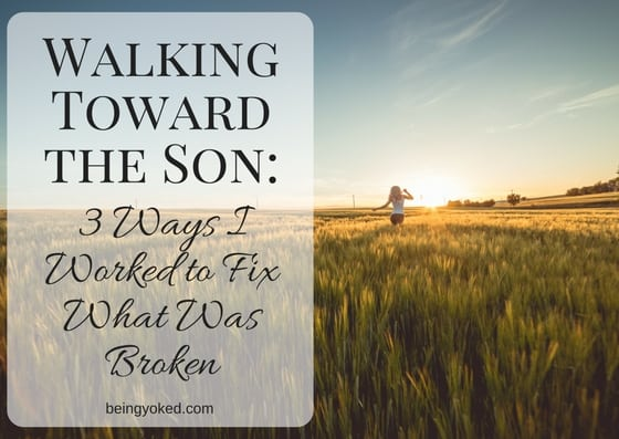 Walking Toward the Son: 3 Ways I Worked to Fix What Was Broken