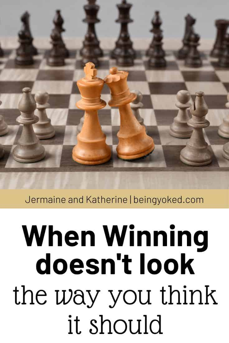 When winning doesn't look the way you think it should.