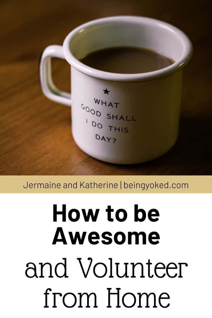how to be awesome and volunteer from home